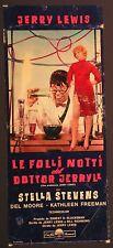 Locandina LE FOLLI NOTTI DEL DOTTOR JERRYLL 1963 RARA JERRY LEWIS STELLA STEVENS