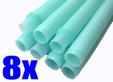 Universal Automatic Suction Pool Cleaner Replacement Hose AQUA COLOR 8PK 1.5 in