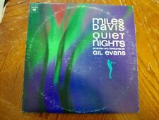 Miles Davis, Quiet Nights, conducted by Gil Evans, Columbia Excellent vinyl!
