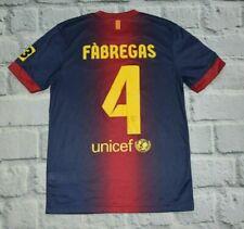 FCB Barcelona shirt FABREGAS jersey S small kit Men #4 qatar NIKE