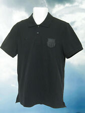 New Nike BARCELONA Football Pure Pique Polo Shirt Black M