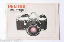 Pentax Me Super 35mm Film Camera Manual Instruction Book - English - Used B64