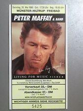 PETER MAFFAY 1990 MÜNSTER  ORIGINAL CONCERT+KONZERT+TICKET+EINTRITTSKARTE