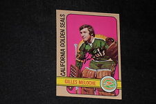 GILLES MELOCHE 1972-73 TOPPS ROOKIE SIGNED AUTOGRAPHED CARD #69 SEALS