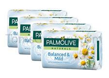 4 x Palmolive Naturals - Balanced & Mild - Bar Soap with Chamomile & Vitamin E