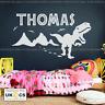 Dinosaur Wall Sticker Personalised Name Wall Mural Bedroom Art Large T Rex Vinyl