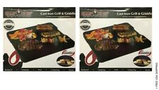 """(2) Camp Chef Reversible Pre-Seasoned Cast Iron Griddle 16"""" - USED"""