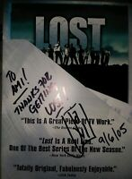 LOST SIGNED & Inscribed DVD SEASON 1 J.J. ABRAMS VG+ 7-disc set free shipping
