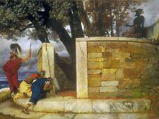 Arnold Bocklin SWISS Santuario HERCULES vecchia Arte Dipinto Manifesto bb4877a