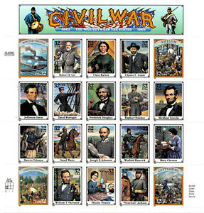 US #2975 32c Civil War - Mint Stamp Sheet of 20 - Collector's QUALITY SRP $45