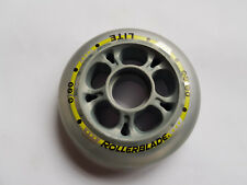 Rollerblade Lite Inlineskate Rollen 80mm 82A für normale Kugellager grau/gelb