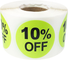 Percent Off Retail Sale Stickers | 1.5 Inches Round - 500 Pack | Pick a Percent