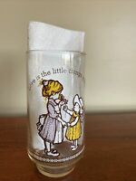 HOLLY HOBBIE COCA COLA DRINKING GLASS 1980's LIMITED EDITION HAPPY TALK VINTAGE