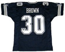 ANTHONY BROWN SIGNED AUTOGRAPHED DALLAS COWBOYS #30 NAVY JERSEY COA