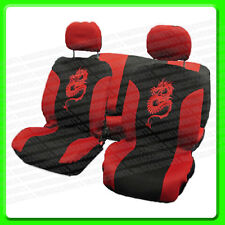 Red & Black Dragon Seat Cover Set [CPT0310068] 8 Piece Seat
