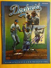 STEVE GARVEY Autographed DODGERS April 1982 Program Game Scorecard Magazine