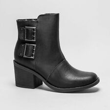Zip Patternless Synthetic Leather Boots for Women