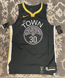 Nike NBA Warriors Stephen Curry The Town Vaporknit Elite Jersey Mens Sz 48 Large