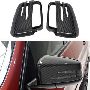 Carbon Fiber Mirror Covers Cap 2PCS for Mercedes Benz W463 G500 W166 ML350 GL350