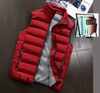 2017 HOT Sales Men's Fashion Winter Warm Vest Waistcoat stand Collar Jacket New