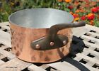 Hammered Copper 2.5 Qt. Sauce Pan w/tin lining & cast iron handle, 2.5mm, France