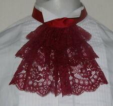 Men lace jabot/cravat Victorian/Georgian /Regency/Steampunk /Goth costume JAB152