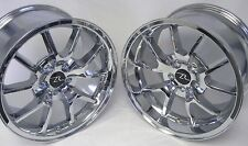 "18"" Chrome Mustang FR500 Replica Wheels Staggered 18x9 18x10 5X114.3 5 94-04"