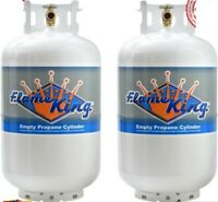 Twin Pack 30 Lb. Vertical Propane Refillable Cylinder Steel tank with OPD Valve