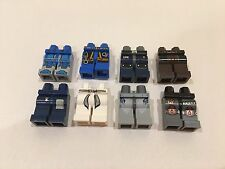 Lego Selection/Collection of Minifigure Legs/Hips with Patterns x 8 (lot 2)