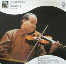 DAVID OISTRACH, VIOOL   - BEETHOVEN / BRAHMS  -  LP