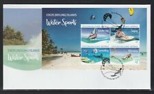 COCOS Islands 2019 WATER SPORTS of Cocos MINISHEET on FDC.