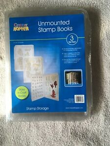 Cropper Hopper unmounted stamp books. New 3 pack