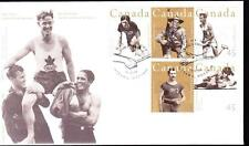 Canada 1996 FDC sc# 1612a Canadian Olympic Gold Medallists, block of 4
