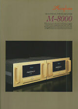 Accuphase m-8000 Catalogo Prospetto Catalogue datasheet brochure