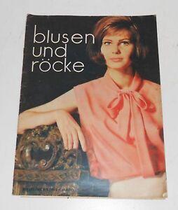 Blusen und Röcke Bestell Nr 1701 Schnittmusterbogen Handarbeit DDR !