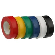 Ruban isolant PVC 19 mm large X 20 M Rouleau, couleur bleu, lot de 100 rouleaux