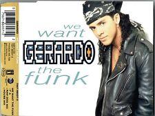 "GERARDO - 5"" CD - We Want The Funk (7"")(Raw Dog Mix) + 1.  East West."