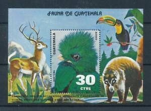 [104583] Guatemala 1979 Wild life deer birds toucan Quetzal Souvenir Sheet MNH