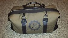 "DIESEL FUEL FOR LIFE Brown Duffel Bag 22""L 10""W 10""H Duffle bag expandable roomy"