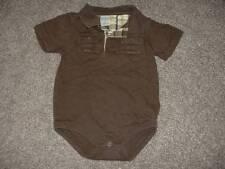 Gymboree Baby Boys Monkey Trouble Bodysuit Brown Pocket Polo Size 18-24 months