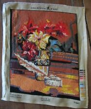 Completed TAPESTRY Needlepoint Unframed Collection D'Art Handmade Still life