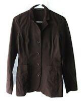 Theory Womens Size S Brown Stretch Nylon 4 Button Blazer Jacket