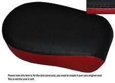 BLACK & DARK RED CUSTOM FITS YAMAHA XVS 650 CLASSIC V STAR REAR SEAT COVER
