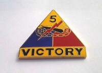 """5TH ARMOR DIVISION VICTORY""  Military Veteran US ARMY Hat Pin 15012 HO"