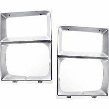 Right+Left Side Headlight DoorsBezels Set of 2 for Chevy Blazer Silver Pair
