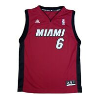 Adidas NBA Miami Heat #6 LeBron JAMES Basketball Jersey Shirt Youth L Adult S