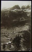 Glass Magic Lantern Slide MOUNTAIN VILLAGE C1920 NORTHERN ITALY ? PHOTO NO69