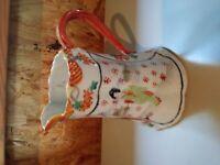 Vintage Pitcher, Vase, Unknown Maker, Made in Japan? Oriental Themed
