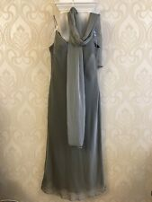 Grey Long Evening Dress Size 14 From Monsoon