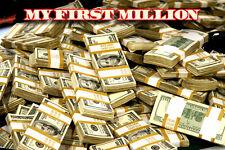My First Million Money Poster 24x36 Cash Dollars